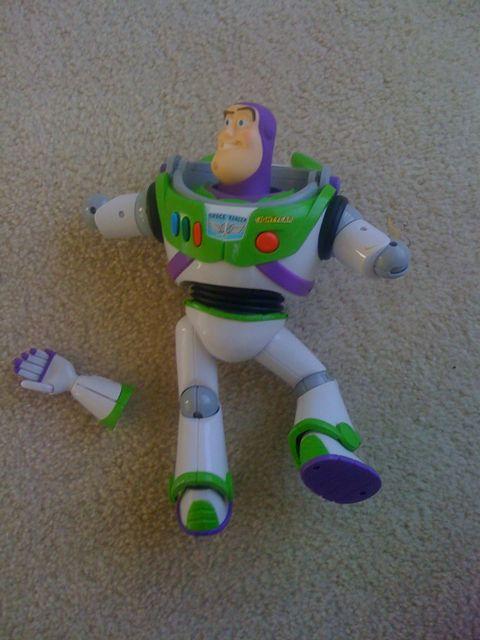 Brocken Used Toys : Poor buzz suburbandaddy