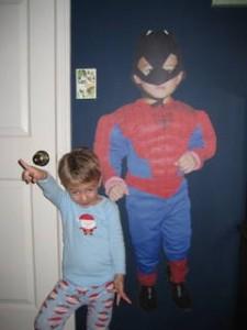 I asked for a superhero pose.  Looks more like he's channeling John Travolta